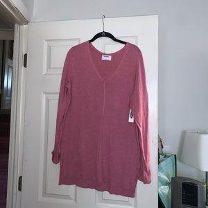v neck tunic sweater